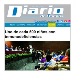 Diario de Chiapas: Uno de cada 500 niñas y niños con inmunodeficiencias