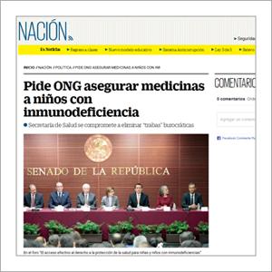 El Universal: Pide ONG asegurar medicinas a niñas y niños con inmunodeficiencia