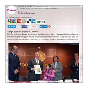 Plenilunia : con unidad y articulación se dará respuesta a problemas de salud de infancia en México, Narro Robles