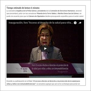 Plenilunia : Foro El acceso efectivo al derecho a la proteccion de la salud para niñas y niños con inmunodeficiencias