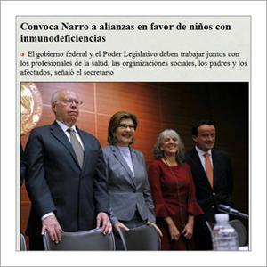 La Jornada UNAM – Convoca Narro a alianzas en favor de niñas y niños con inmunodeficiencias