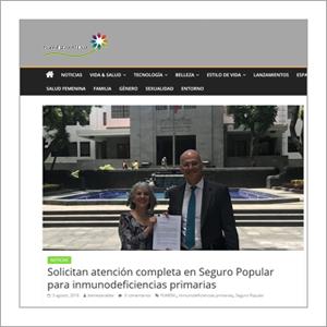 BienEstarAlDía: Solicitan Atención completa en Seguro Popular para Inmunodeficiencias Primarias