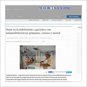 Medicina Digital: Dejar en la indefensión a pacientes con inmunodeficiencias primarias, costoso y mortal