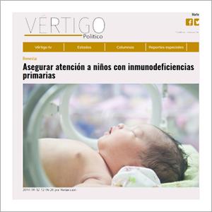 Vértigo Político: Asegurar atención a niñas y niños con inmunodeficiencias primarias