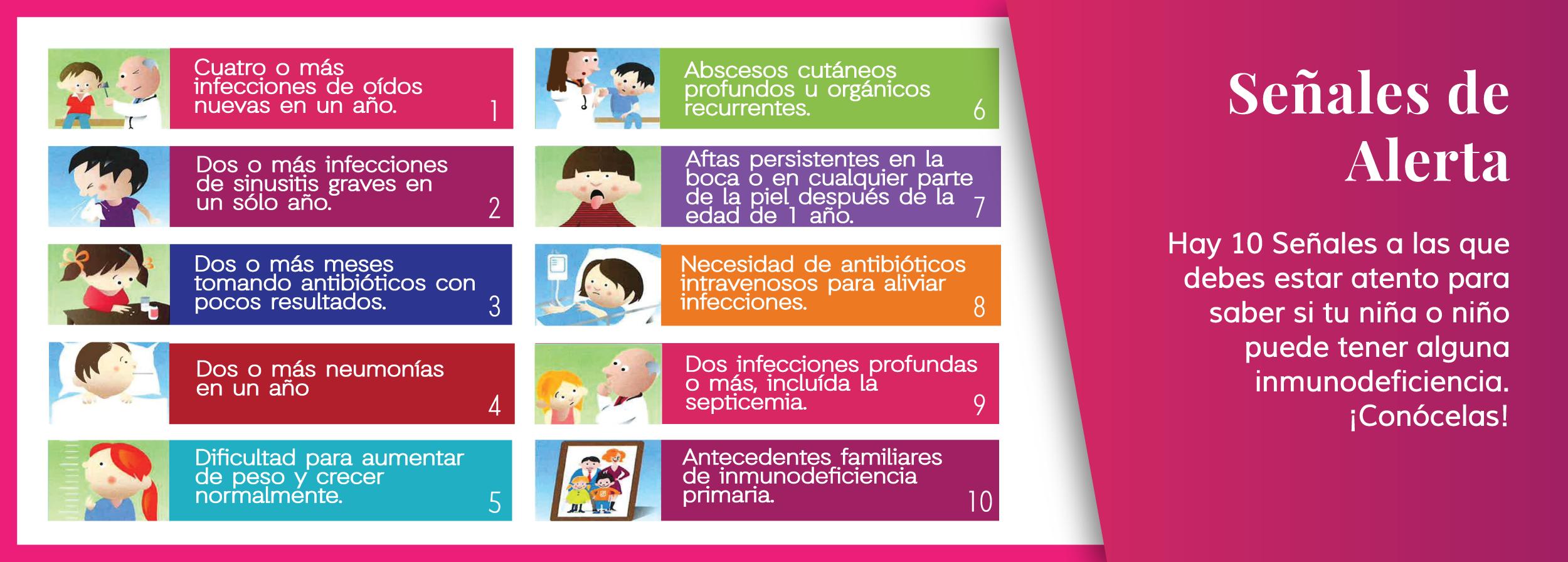 Señales de Alerta de las Inmunodeficiencis Primarias